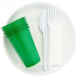 Наборы посуды и приборов одноразовые