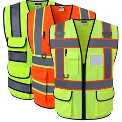 Товары для безопасности на стройке светоотражающие жилеты