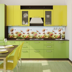Кухонные фартуки цветные