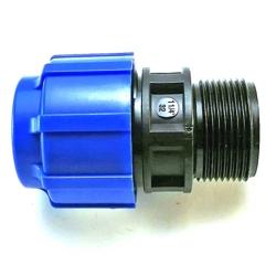 ПНД (полиэтилен низкого давления) диаметр 25 мм. муфты комбинированные
