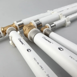 Металлопластиковые трубы и фитинги диаметр 26 мм.